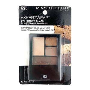 3/$15 MAYBELLINE Expertwear Eye Shadow Quad #220